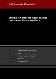 Euskararen presentzia gaur egungo prentsa elebidun abertzalean