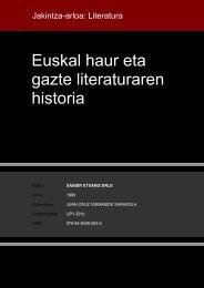 Euskal haur eta gazte literaturaren historia - Euskara