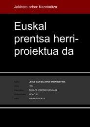 Euskal prentsa herri proiektua da - Euskara