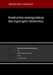 Ikaskuntza esanguratsua eta ingurugiro hezkuntza - Euskara