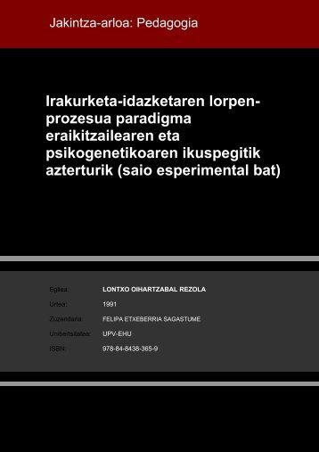 Irakurketa-idazketaren lorpen- prozesua paradigma ... - Euskara