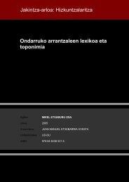 Ondarruko arrantzaleen lexikoa eta toponimia Jakintza ... - Euskara