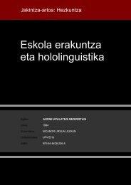 Eskola erakuntza eta hololinguistika - Euskara