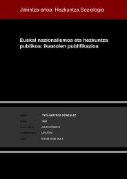 Euskal nazionalismoa eta hezkuntza publikoa: ikastolen ... - Euskara