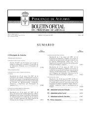 SUMARIO - Gobierno del principado de Asturias