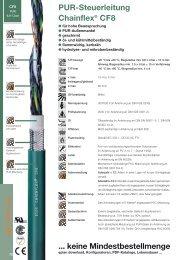 PUR-Steuerleitung ... keine Mindestbestellmenge Chainflex® CF8