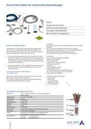 Geschirmte Kabel für industrielle Anwendungen