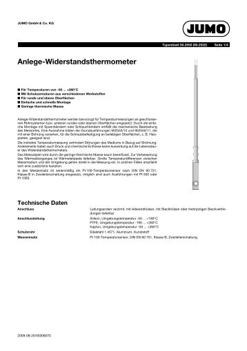 Anlege-Widerstandsthermometer