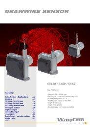 Draw wire - Series SX50 / SX80 / SX120