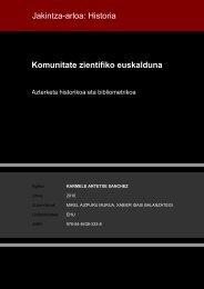 Jakintza-arloa: Historia Komunitate zientifiko euskalduna - Euskara