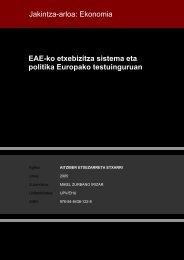 EAEko etxebizitza sistema eta politika Europako ... - Euskara