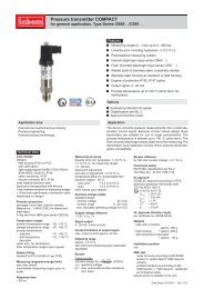 Pressure transmitter COMPACT