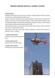 Speciální způsoby záchrany s využitím vrtulníku - EUSR