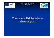 Travma zaradi dolgotrajnega visenja v pasu EUSR-MED