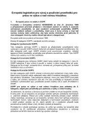 Evropská legislativa pro vývoj a používání prostředků pro ... - EUSR
