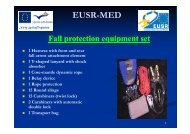 EUSR-MED Fall protection equipment set