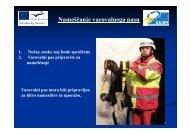 Nameščanje varovalnega pasu - EUSR