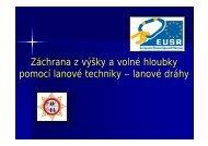 Záchrana z výšky a volné hloubky pomocí lanové techniky ... - EUSR