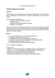 OSNOVNA REŠEVALNA TEHNIKA Splošno: Organiziranje ... - EUSR