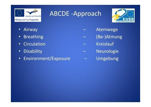 ABCDE -Approach - EUSR