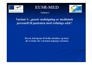 Passiv nedstigning av medisinsk personell til pasienten med ... - EUSR