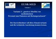 passives Abseilen von medizinischem Personal zum ... - EUSR