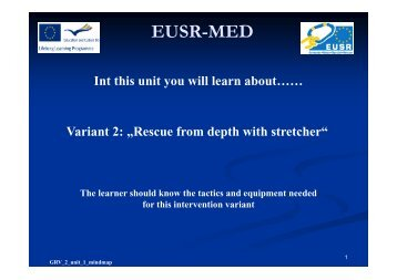 Rescue from depth with stretcher - EUSR