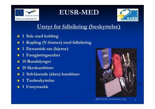 Utstyr for fallsikring (beskyttelse) - EUSR