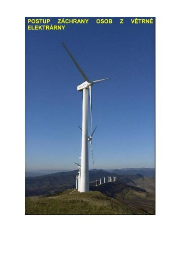 Postup záchrany osob z větrné Elektrárny - EUSR