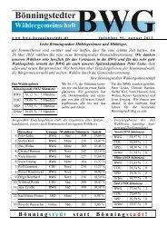 BWG Infoblatt Nr. 91