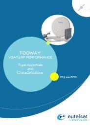 Tooway? VSATs RF performance characterisation - Eutelsat