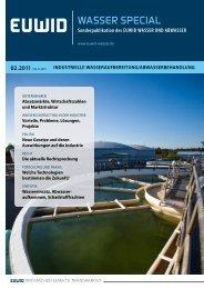 EUWID Wasser special 2/2011 - EUWID Wasser und Abwasser