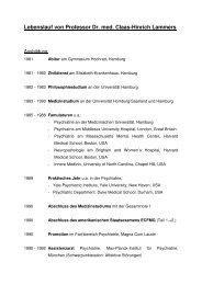 Lebenslauf von Professor Dr. med. Claas-Hinrich Lammers - Asklepios