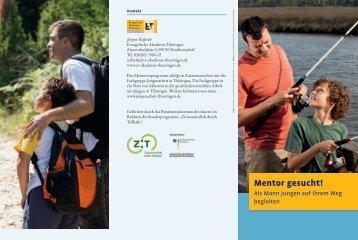 "Projektflyer ""Mentor gesucht!"" - Evangelische Akademie Thüringen"
