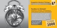 Familien im Zeittakt? - Evangelische Akademie Thüringen
