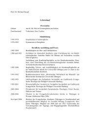 Lebenslauf - Evangelische Akademie Thüringen