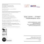 Programm als pdf - Evangelische Akademie Thüringen
