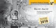Web 2.0 – Stasi 2.0 - Evangelische Akademie Thüringen