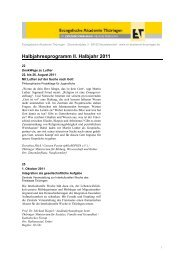 Halbjahresprogramm II. Halbjahr 2011 - Evangelische Akademie ...