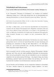 Weltoffenheit und Gottvertrauen - Evangelische Akademie Thüringen