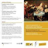 Reformation und Toleranz - Evangelische Akademie Thüringen