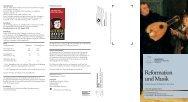 Reformation und Musik - Evangelische Akademie Tutzing