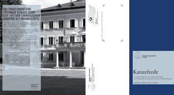 Kanzelrede - Evangelische Akademie Tutzing