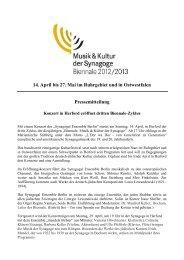 14. April bis 27. Mai im Ruhrgebiet und in Ostwestfalen ...
