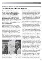2. Bericht - Ev.-Luth. Andreaskirche München-Fürstenried