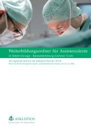 Chirurgie - Basisweiterbildung: Asklepios Paulinen Klinik Wiesbaden
