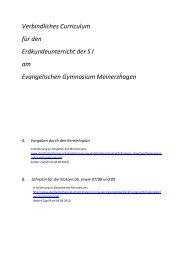 Verbindliches Curriculum - Evangelisches Gymnasium Meinerzhagen