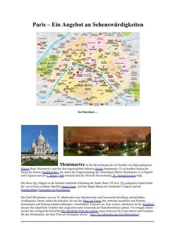 Paris – Ein Angebot an Sehenswürdigkeiten