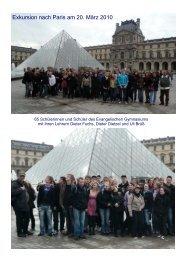 Exkursion nach Paris am 20. März 2010 - Evangelisches ...