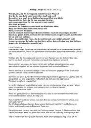 Predigt: Jesaja 55, 1-5 (9. Juni 2013) Wohlan, alle, die ihr durstig ...